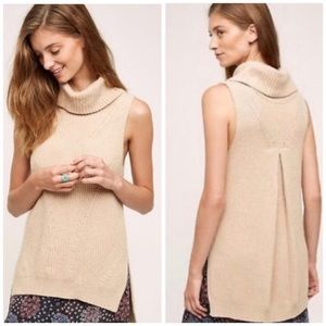 Anthropologie angel of the north camel sweater L